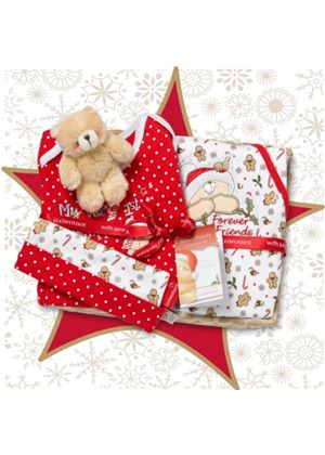 Forever Friends - Candy Cane Christmas Gift Basket 0-3 months