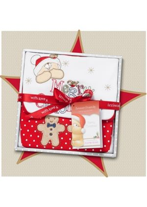 Forever Friends Snowflake Bibs Gift Box 0 - 3 Months