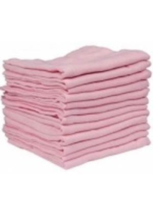 Muslin Squares - Pack of 12 (Pink)
