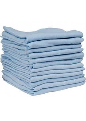 Muslin Squares - Pack of 12 (Blue)