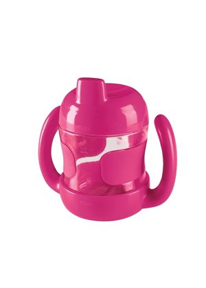 200ml Sippy Cup with Handles Raspberry