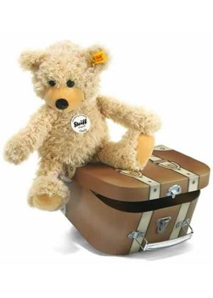 Charly Dangling Teddy Bear in Suitcase Beige