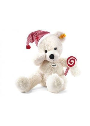 Lotte Teddy Bear with Cap & Lolly 40cm