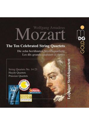 Mozart: Ten Celebrated String Quartets (Music CD)