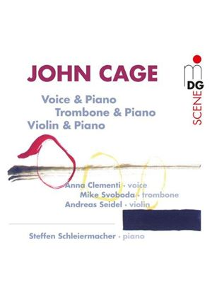 John Cage: Voice & Piano; Trombone & Piano; Violin & Piano (Music CD)