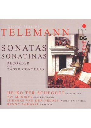 Telemann: Sonatas & Sonatinas for Recorder & Basso Continuo (Music CD)