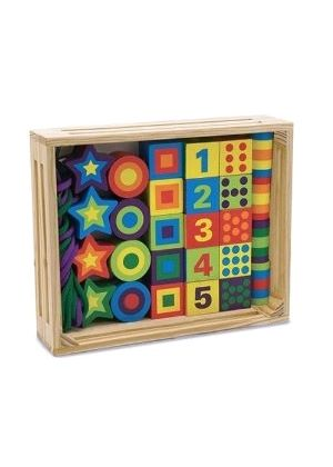 Melissa & Doug - Lacing Beads in a Box