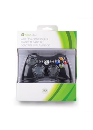 Official Xbox 360 Wireless Gamepad - Black (Xbox 360 Controller)