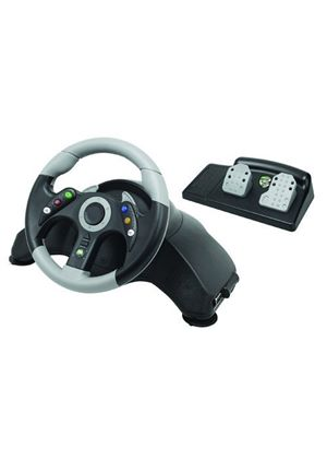 Microcon Steering Wheel - Black (Xbox 360)