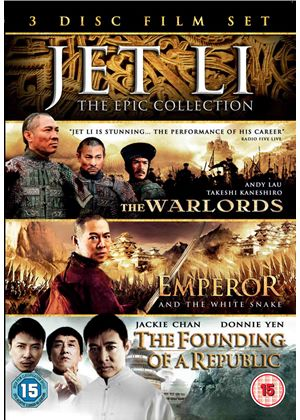Jet Li Boxset - The Warlords / Emperor And The White Snake / The Founding Of A Republic