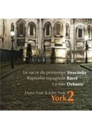 York2 plays Debussy, Ravel and Stravinsky (Music CD)
