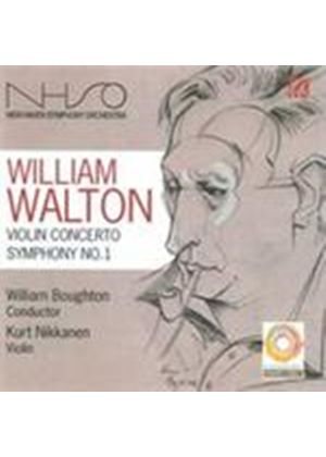 Walton: Symphony No 1; Violin Concerto (Music CD)
