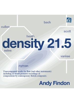 Density 21.5: Unaccompanied Works for Flute (And Other Instruments) (Music CD)