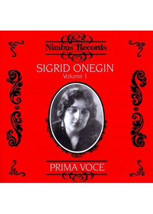Sigrid Onegin, Vol 1 (1911-14)