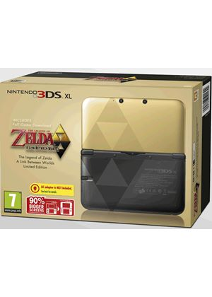 Legend of Zelda Link Between Worlds 3DS XL Console Limited Edition - (3DS)