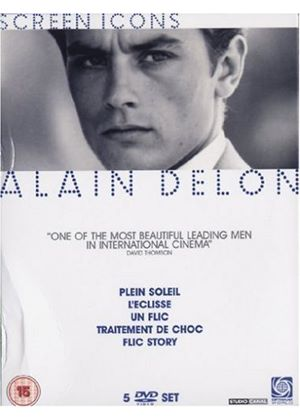 Alain Delon - The Screen Icons Collection: UN FLIC  PLEIN SOLEIL/LECLISSE/ TRAITEMENT DE CHOC/ FLIC STORY
