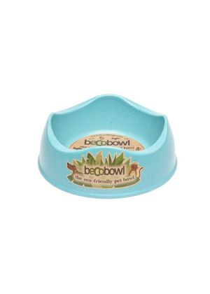 BecoBowl Eco-Friendly Pet Bowl, Small, Blue