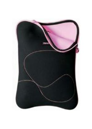 Port Designs Dehli Skin Sleeve (Black/Pink) for 15 inch to 16 inch Laptop