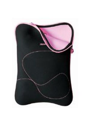 Port Designs Delhi Skin Laptop Sleeve (Black/Pink) for 10 inch - 12 inch Laptop