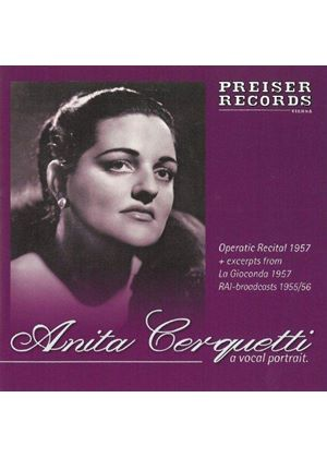 Anita Cerquetti: A Vocal Portrait (Music CD)