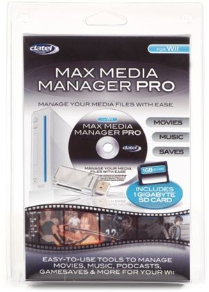Max Media Manager Pro with SD 1GB Memory and USB2 Card Reader (Wii)