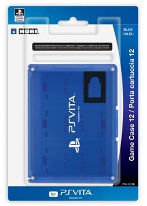 Hori Officially Licensed Card Case 12 - Blue (PlayStation Vita)