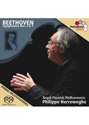 Beethoven: Symphony 4 & Symphony 7 (Music CD)