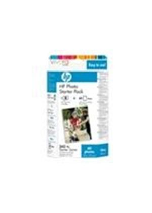 HP 343 Series Photo Starter Pack - Print cartridge / paper kit - 1 x color (cyan, magenta, yellow)
