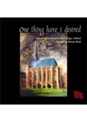One Thing I Have Desired (Music CD)