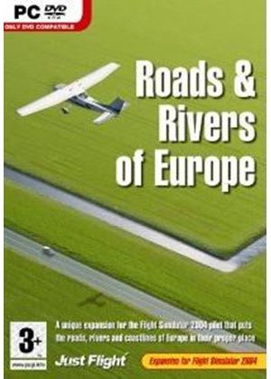 Roads & Rivers of Europe Expansion Pack for FS 2004 (PC DVD)