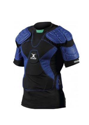 Virtuo 12 Rugby Body Armour - Black/Blue