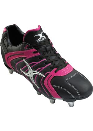 Mercury Rugby Boots - Black/Pink