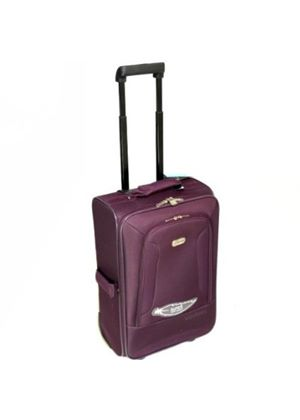 5 Cities Small Super Lightweight Cabin Approved Suitcase - Plum