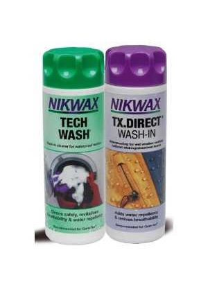 Twin Pack Nikwax Tech Wash and Tx. Direct Wash-in 0.3ltr