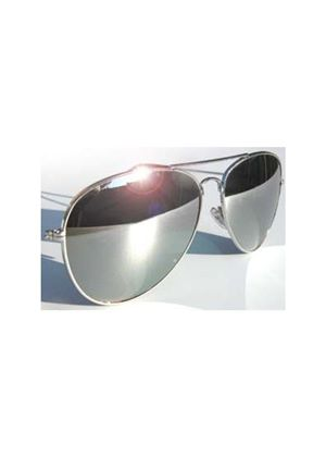 Aviator 70's Style Classic Full Mirror Chrome Silver Sunglasses with distortion free Glass lens