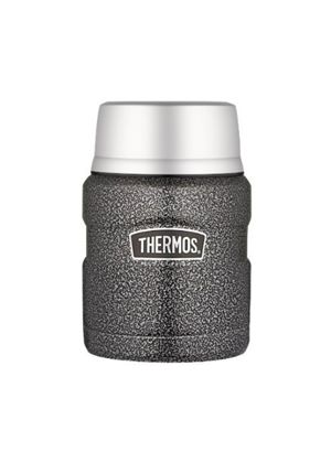 Stainless Steel King Hammertone Food Flask, 0.47L (Bowl and Spoon included)