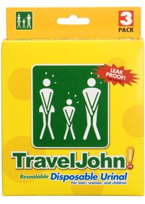 TravelJohn Disposable Urinal - 3-Pack