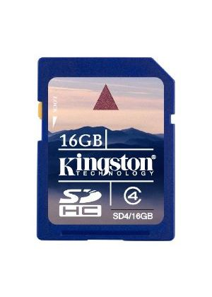 Kingston - Flash memory card - 16 GB - Class 4 - SDHC # SD4/16GB