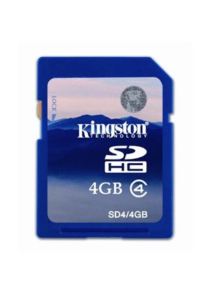 Kingston Technology 4GB Secure Digital High Capacity Class4 Card # SD4/4GB