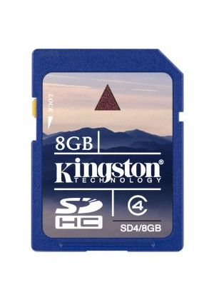 Kingston - Flash memory card - 8 GB - Class 4 - SDHC # SD4/8GB