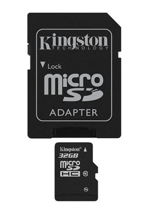 Kingston MicroSDHC 32GB Card (Class 10) + SD Adapter