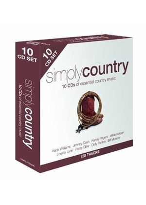 Various Artists - Simply Country (10 Disc Box Set) (Music CD)