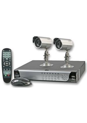 CnM Secure 2 Camera CCTV Security System Surveilance Kit - 500GB