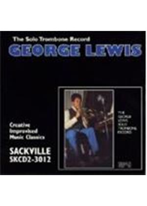 George Lewis - Solo Trombone Record (Music CD)