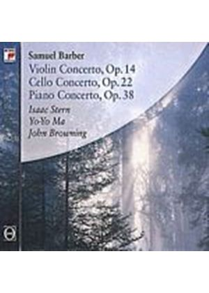 Samuel Barber - Violin, Cello And Piano Concertos (Stern, Ma, Browning) (Music CD)