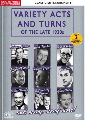 Variety Acts And Turns Of The Late 1930s