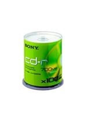 Sony CDQ 80SP - 100 x CD-R - 700 MB ( 80min ) 48x - spindle - storage media