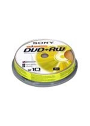 Sony DPW 120A - 10 x DVD+RW - 4.7 GB 1x - 4x - spindle - storage media
