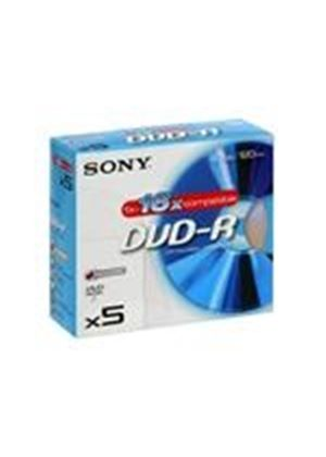 Sony DMR 47 - 5 x DVD-R - 4.7 GB ( 120min ) 16x - jewel case - storage media