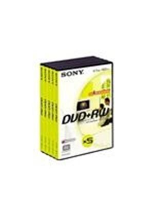 Sony DPW 120AVD - 5 x DVD+RW - 4.7 GB 1x - DVD video box - storage media